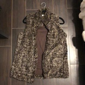 Altard State Brown Furry Vest | Size small